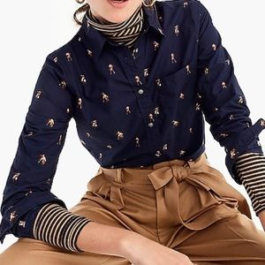 J. Crew classic fit shirt in dog print